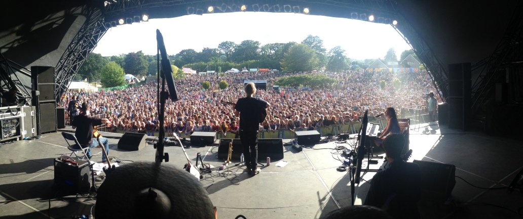 View from stage, Green Man 2013